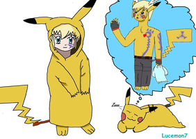 That thinks and dreams pikachu by JackFrost-LCDA