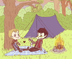 SPiRK camping by surrenderdammit