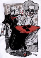 Harley Quinn and Joker - Rockabilly Universe by DenisM79