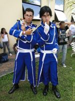 Maes Hughes and Roy Mustang Cosplay by FrancAlmeida