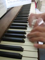 Piano Hands in Motion by taransa