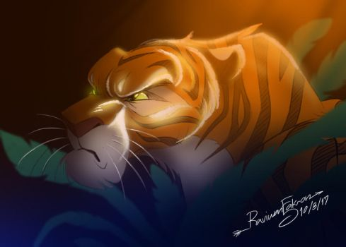 Quick coloring - Tiger by RFakonWolf