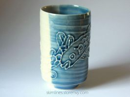 Fishes tea cup 0721 by skimlines