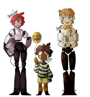 Reverse!Fnaf Concepts by LyricalDropArt