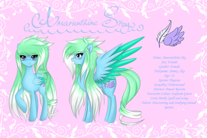 Amaranthine Sky Reference~ by FluffyMaiden
