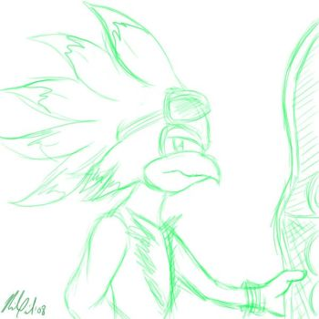 First Attempt - Jet The Hawk by indilee