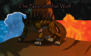 The Neanderthal Wolf - Poster by HuskiBunni