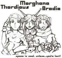 Thordious, Morghana and Brodie by Pink-Myotis