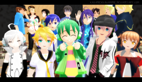 MMD: Boys Time by kasanexkagamine