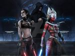Red Lady Sith by TheFreehandDrawer