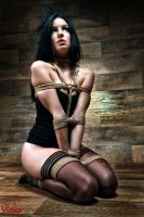 Tied in Lingerie - Fine Art of Bondage by Model-Space