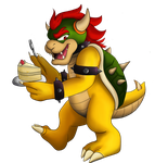 Koopa with a Cake by ChibiChocoBunny