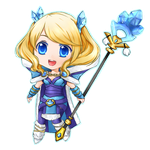 Dota 2: Blueheart Tails Crystal Maiden Chibi by seika