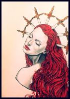 Red Lady Repentance by Eva-Carolina