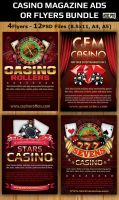 Casino Magazine Ads-Flyers Template Bundle by Hotpindesigns