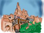 Big Thunder Mountain sketch by AtomSpectre