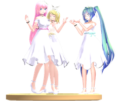 MMD Trophy: TDA White Dress girls by Rea-Usax