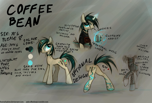 Coffee Bean reference sheet by FoxInShadow