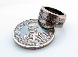 Memento Mori Coin Ring by TCSCustoms