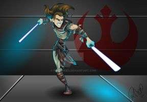 Unleashed Jedi Knight by racookie3
