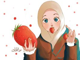 Giant Strawberry by yana8nurel6bdkbaik