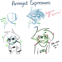 -Annoyed Expression Tutorial- by 2numagirls