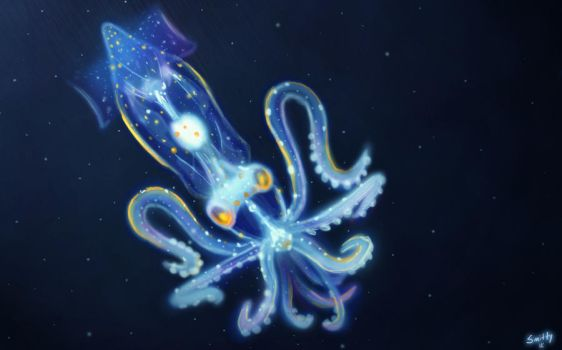 Speed Paint - 10 - Deep Sea Creature by Art-by-Smitty