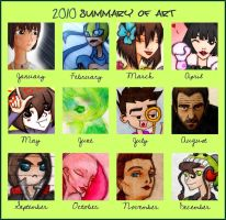 2010 art summary by Number-14