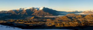 Queenstown Valley Panoramic by mark-flammable