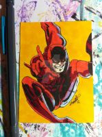 sketch card Daredevil by SoVeryUnofficial