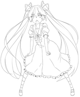 Usami Mimi Lineart + Video by Shi-Coolmix
