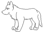 Free Canine Lineart by FoxCatcher
