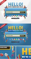 Colorful Free Coming Soon Page by amandhingra