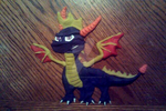 Spyro En Playdough by BelievingIsSeeing