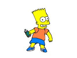 Bart Simpson by Oo-Elie-oO
