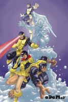 Old school X-Men colors by -adam-
