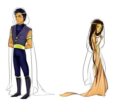 Nadira and Sethos - concept design July 2016 by Anante