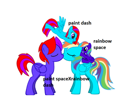 rainbow dashXpaint space by djderpy11