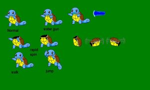 Squirtle sprite sheet by reaver570