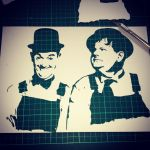 Laurel and Hardy - One Layer Stencil by RAMART79