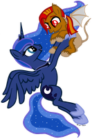 Princess Luna and Fire Blood by MissiTofu