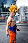 .:Goku ssj 2, damaged, full power:. by Alexcloudsquall