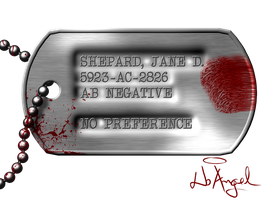 Shepard's Dog tag by NoAng3l