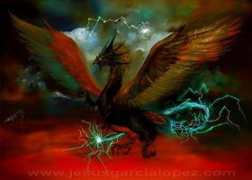 Lightning Dragon by Raro666