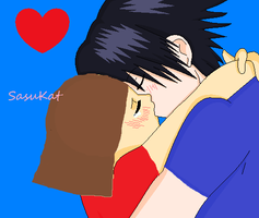 SasuKat:When I'm Kissing U by TheChocoLover