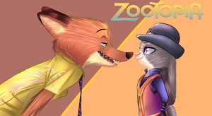 zootopia : nick and judy by Phantom1Link