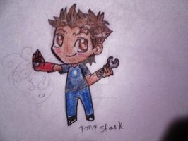 Young Tony Stark chibi by MidnightsBloom
