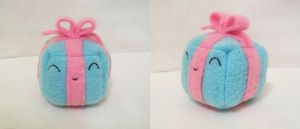 Blue Present Cube Plushie by Cube-lees