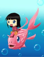 cute fish rider by Greywind89