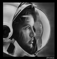 Portrait astronaut by DarkMoon-Z